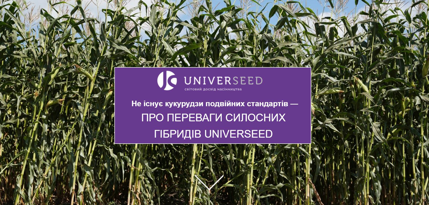 Не існує кукурудзи подвійних стандартів — ПРО ПЕРЕВАГИ СИЛОСНИХ ГІБРИДІВ UNIVERSEED фото 1 LNZ Group
